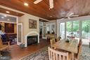 Hi end pine flooring/wood bead board ceiling - 7111 TWELVE OAKS DR, FAIRFAX STATION