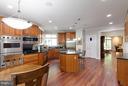 Brazilian Cherry Flooring/Custom Cherry Cabinetry - 7111 TWELVE OAKS DR, FAIRFAX STATION