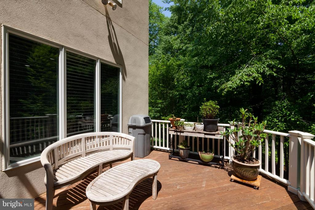 Total privacy on rear deck - 7111 TWELVE OAKS DR, FAIRFAX STATION