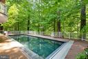Heated pool with Pebble Tech liner - 7111 TWELVE OAKS DR, FAIRFAX STATION