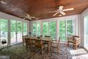 French doors open to pool and rear deck - 7111 TWELVE OAKS DR, FAIRFAX STATION