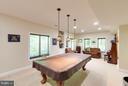 Lower level pool room - 7111 TWELVE OAKS DR, FAIRFAX STATION