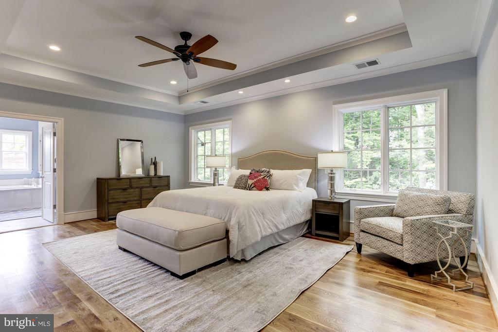 Master bedroom with vaulted ceilings - 3411 N WOODROW ST, ARLINGTON