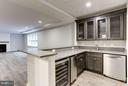 Basement wet bar with oversize storage & wine room - 3411 N WOODROW ST, ARLINGTON