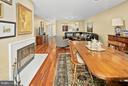 Dining Room leading to Living Room - 5806 LINDEN SQUARE CT #38, NORTH BETHESDA