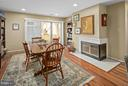 Dining Room w/Fireplace - 5806 LINDEN SQUARE CT #38, NORTH BETHESDA