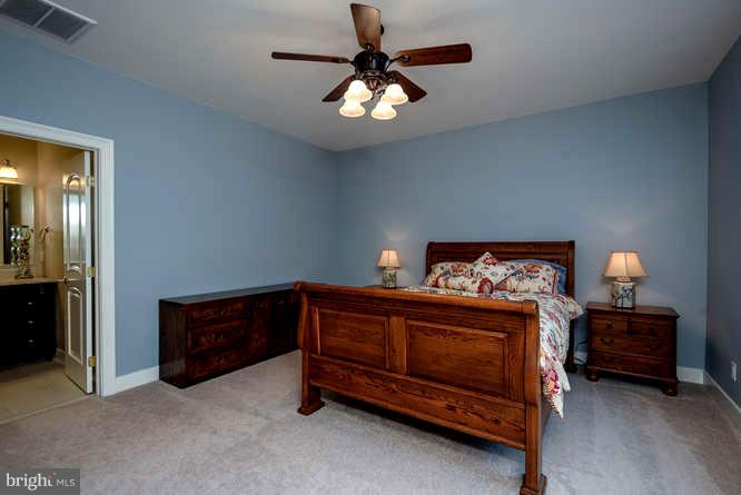 Bedroom 1 of 3 Upstairs. All w/ Custom Tile Bath - 11207 KNOLLS END, SPOTSYLVANIA