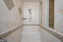 Roman Shower w/ Custom Tile Work - 11207 KNOLLS END, SPOTSYLVANIA