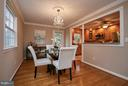 Spacious dining open to kitchen - 3421 BEAUFORD CIR, ANNANDALE