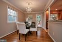 dining with access to deck and kitchen! - 3421 BEAUFORD CIR, ANNANDALE