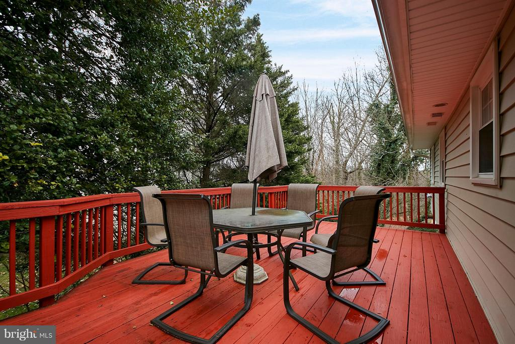 deck view to back woods! - 3421 BEAUFORD CIR, ANNANDALE