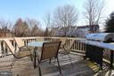 Relax outside on the spacious deck - 344 STALLION SQ NE, LEESBURG
