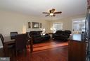 Dining room overlooking family room - 344 STALLION SQ NE, LEESBURG