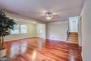 Living Room With Side Addition For Even More Space - 717 WOODBURN RD, ROCKVILLE