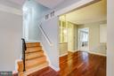 Stairway to upper level - 717 WOODBURN RD, ROCKVILLE