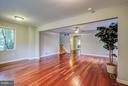 Huge Living Room with Newer Hardwood Floors - 717 WOODBURN RD, ROCKVILLE