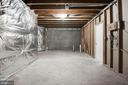 Lower level - extra large unfinished storage space - 43580 DUNHILL CUP SQ, ASHBURN