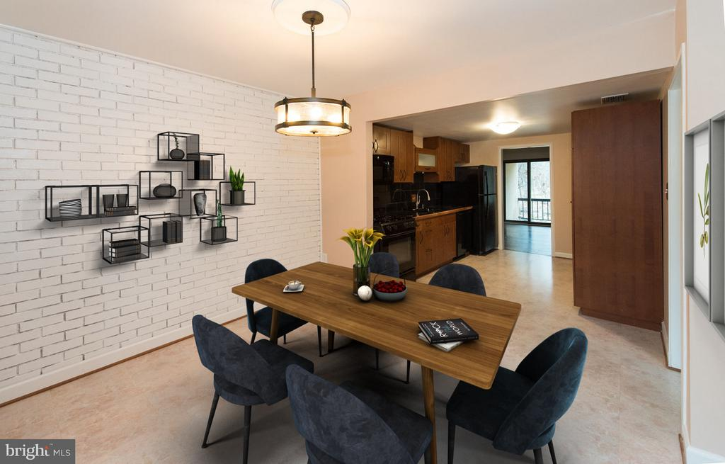 Enjoy  connecting w/ guest from this eat-in dining - 2358 SOFT WIND CT, RESTON