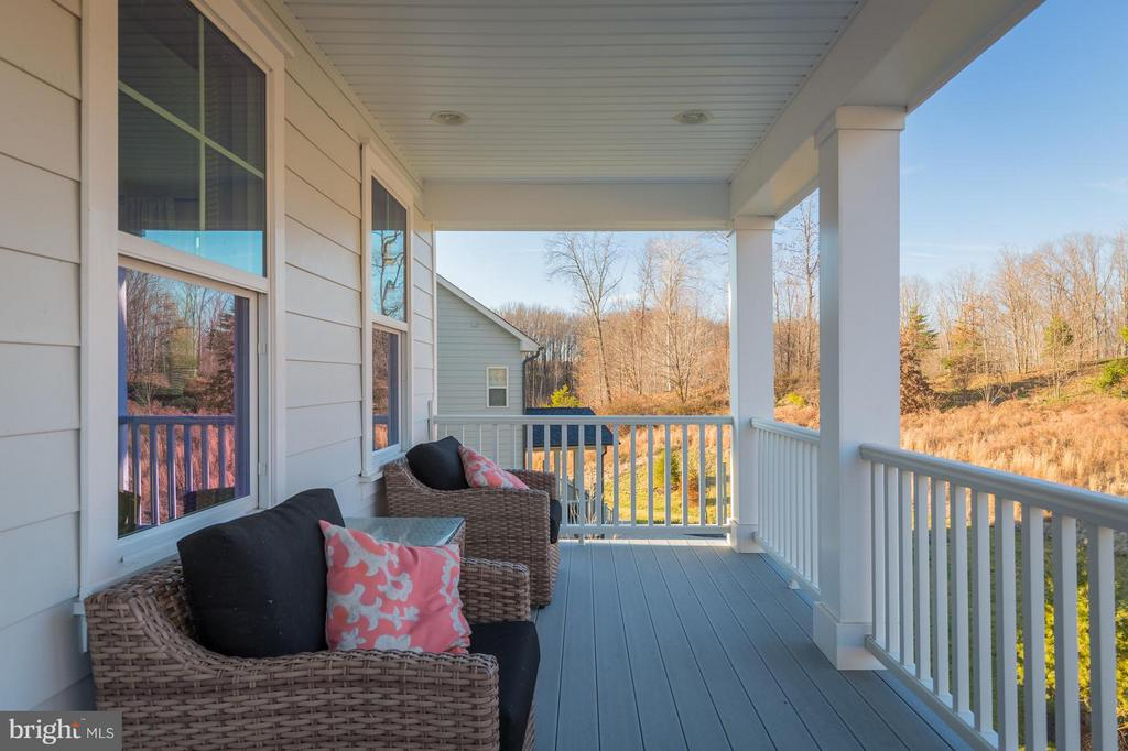 Owners suite porch on rear of home - 2312 SWEET PEPPERBRUSH LOOP, DUMFRIES