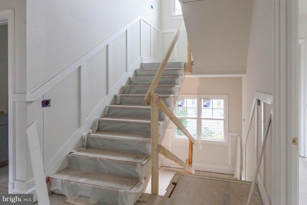 ACTUAL UNDER CONSTRUCTION STAIRHALL - 1723 BARTON ST N, ARLINGTON