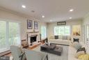 Spacious  family room with gas fireplace - 7111 TWELVE OAKS DR, FAIRFAX STATION