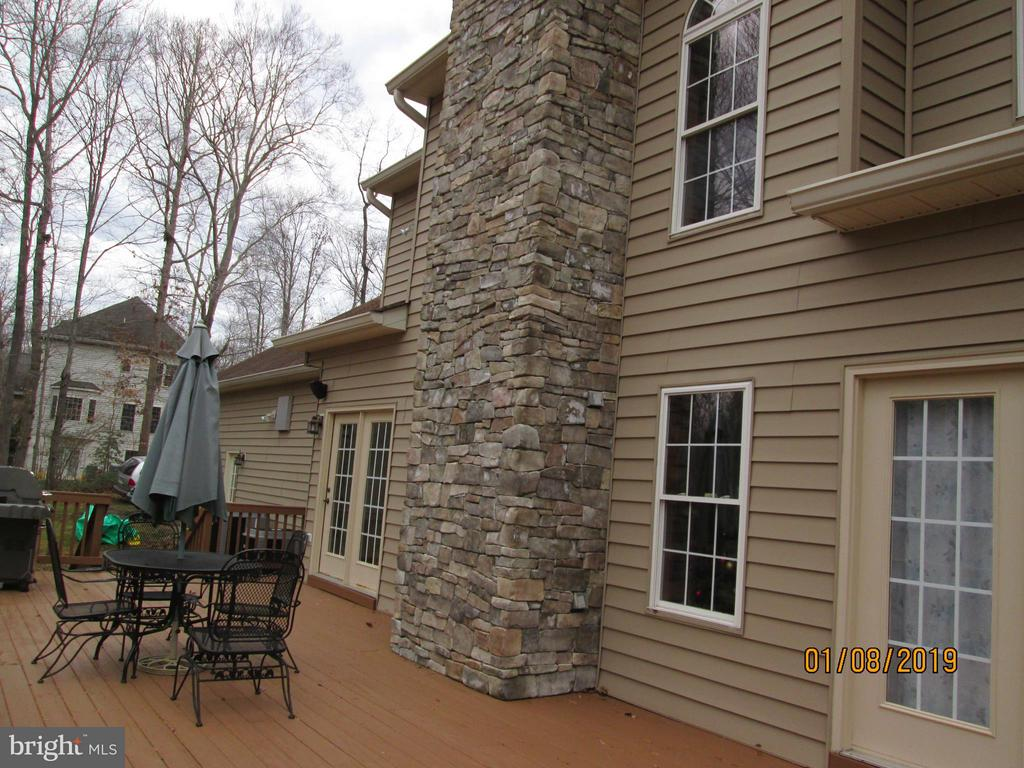 Stone  inside and out fireplace - 12605 CRAWFISH HOLLOW  CT., MANASSAS