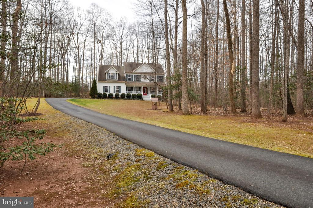 Long driveway surrounded by tees! - 221 SEQUESTER DR, STAFFORD