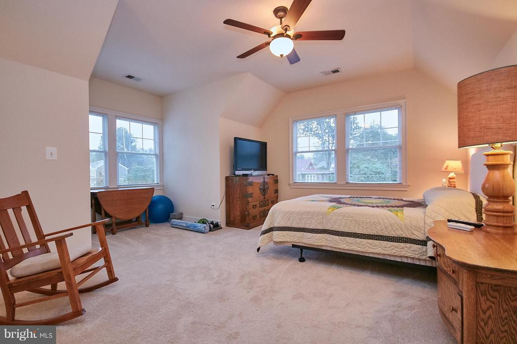 Large suite bedroom. Sep entrance, full bath - 7224 FARR ST, ANNANDALE