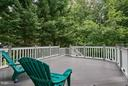 Upper back deck. Access from eat in and fam Room - 7224 FARR ST, ANNANDALE