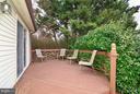 Deck off Master Bedroom - 4555 SHETLAND GREEN RD, ALEXANDRIA