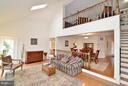Great Room w/ Vaulted Ceiling, Skylights, Gas FP - 4555 SHETLAND GREEN RD, ALEXANDRIA