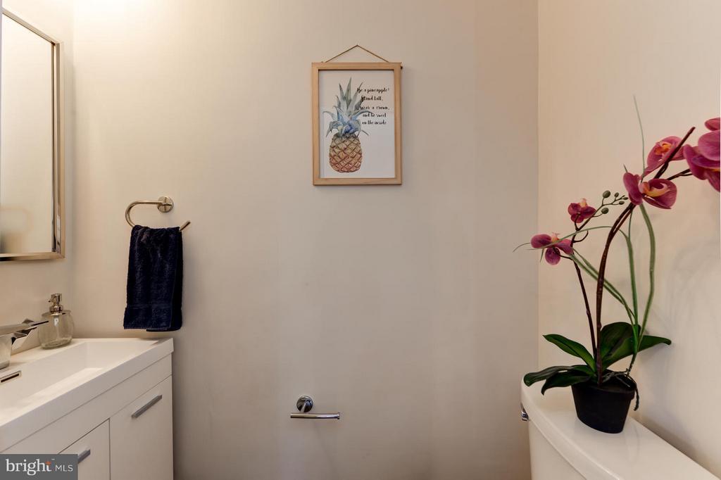 Powder Room on Main Level - 207 UNDERWOOD ST NW, WASHINGTON
