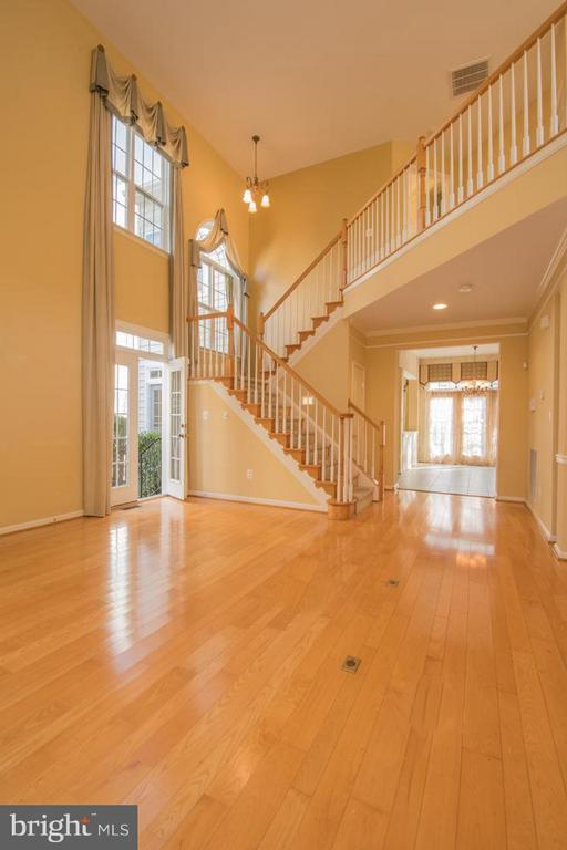 Two Story Living Room w Entrance to Courtyard. - 21844 WESTDALE CT, BROADLANDS