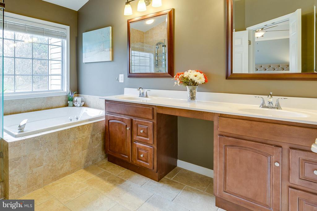 Large & Bright Master Bath w/ Double Sinks - 21018 ROAMING SHORES TER, ASHBURN
