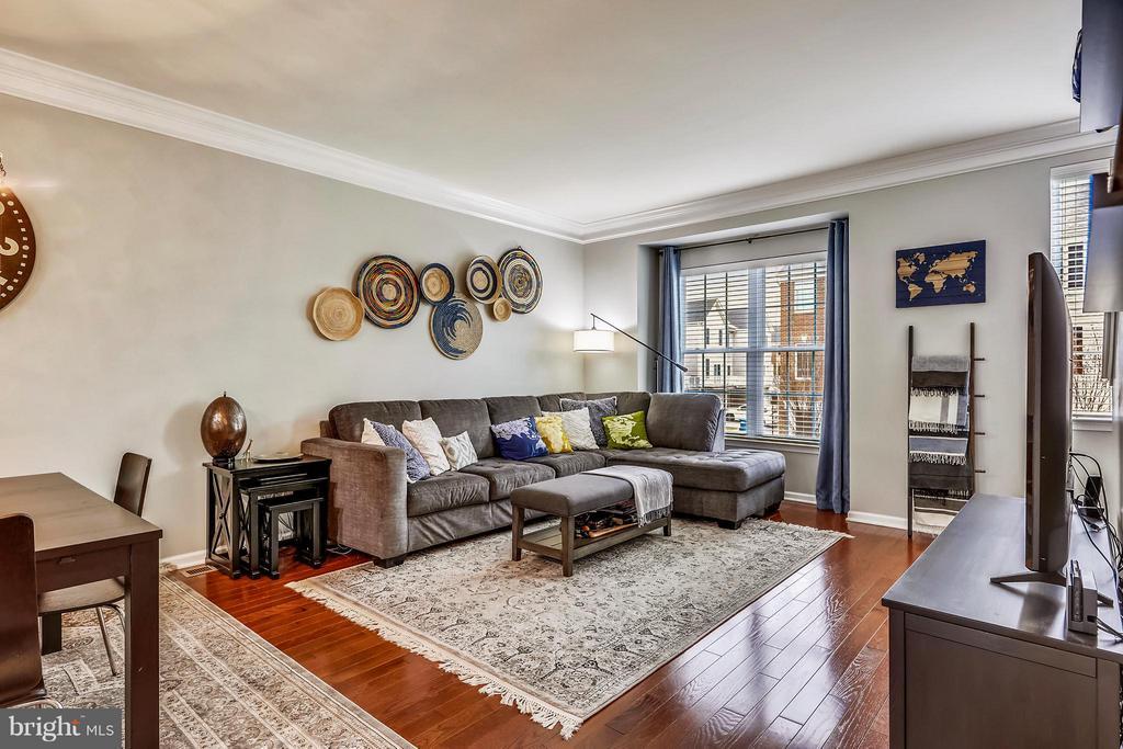 LIVING ROOM W/HARDFLOORS - 42821 PAMPLIN TER, CHANTILLY
