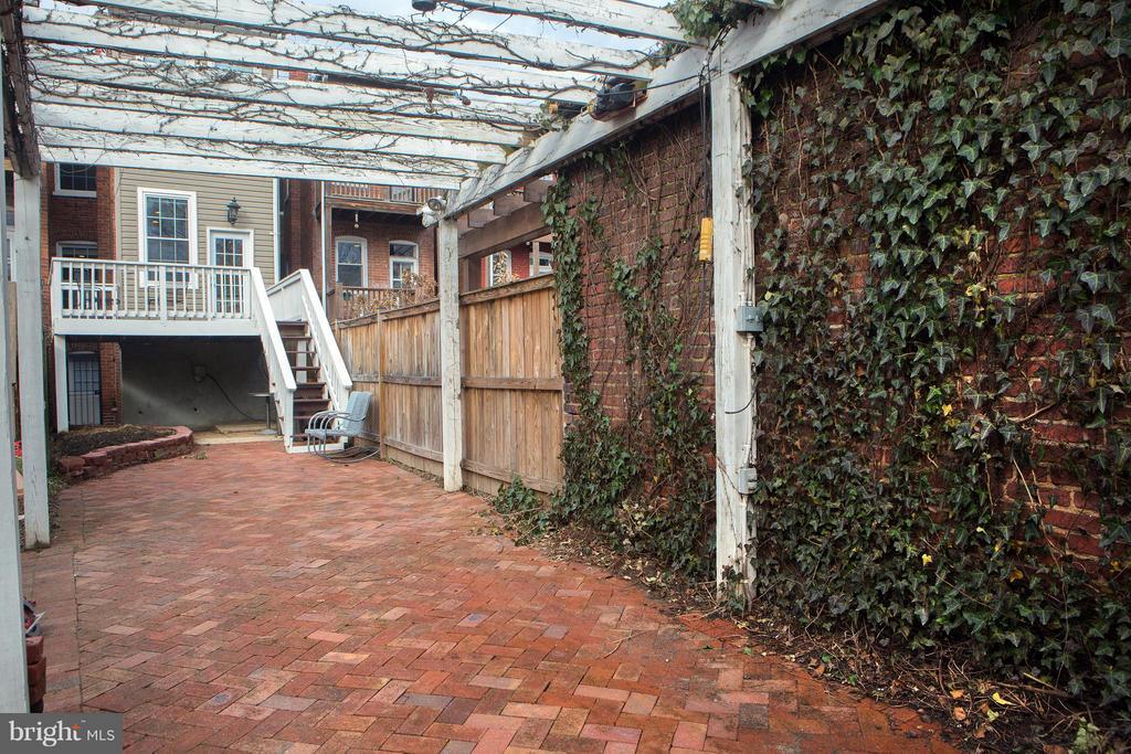 Rear Yard, Bricks, stones, Arbor - 1329 N CAROLINA AVE NE, WASHINGTON
