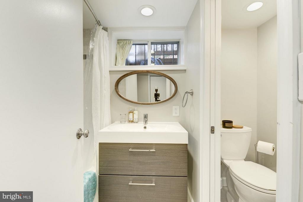 Renovated 3rd Full Bath in Lower Level - 5224 NEBRASKA AVE NW, WASHINGTON
