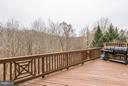 Deck off Family room overlooking woods - 20374 FALLSWAY TER, STERLING