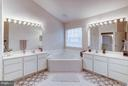 Master bath with soaking tub - 20374 FALLSWAY TER, STERLING