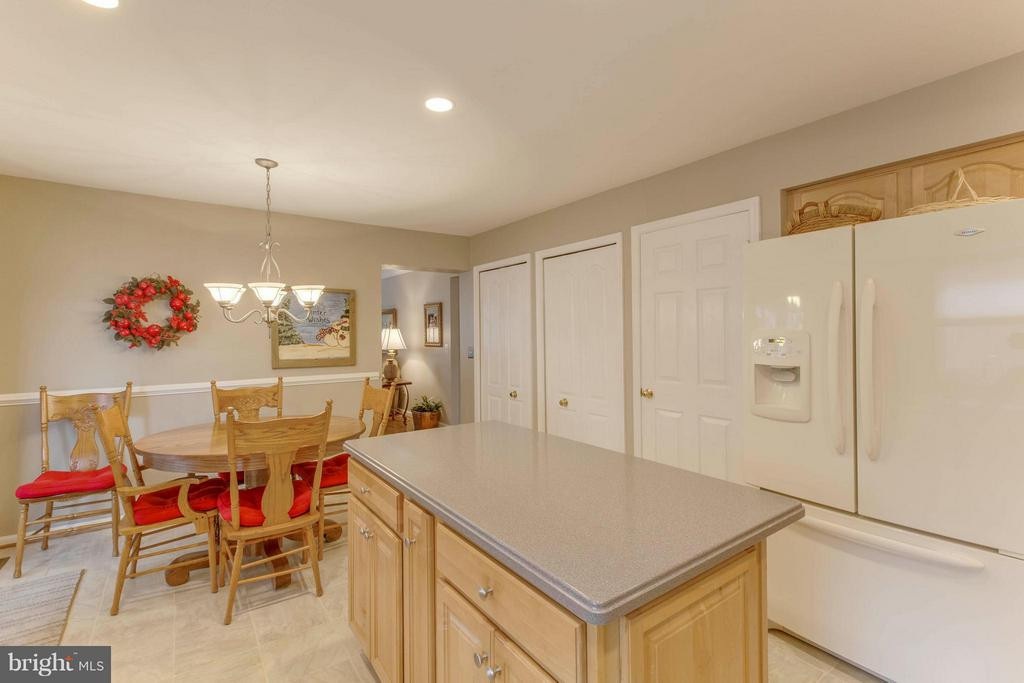 Kitchen overlooking breakfast area - 145 PEYTON RD, STERLING