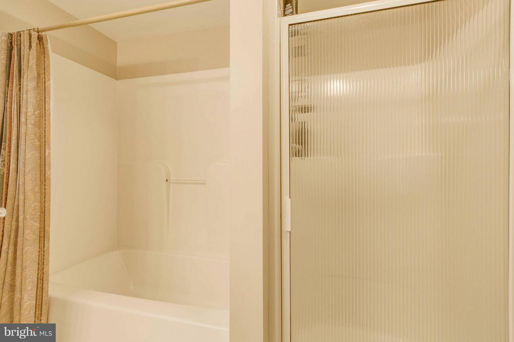 Master bedroom bath with tub & separate shower - 145 PEYTON RD, STERLING