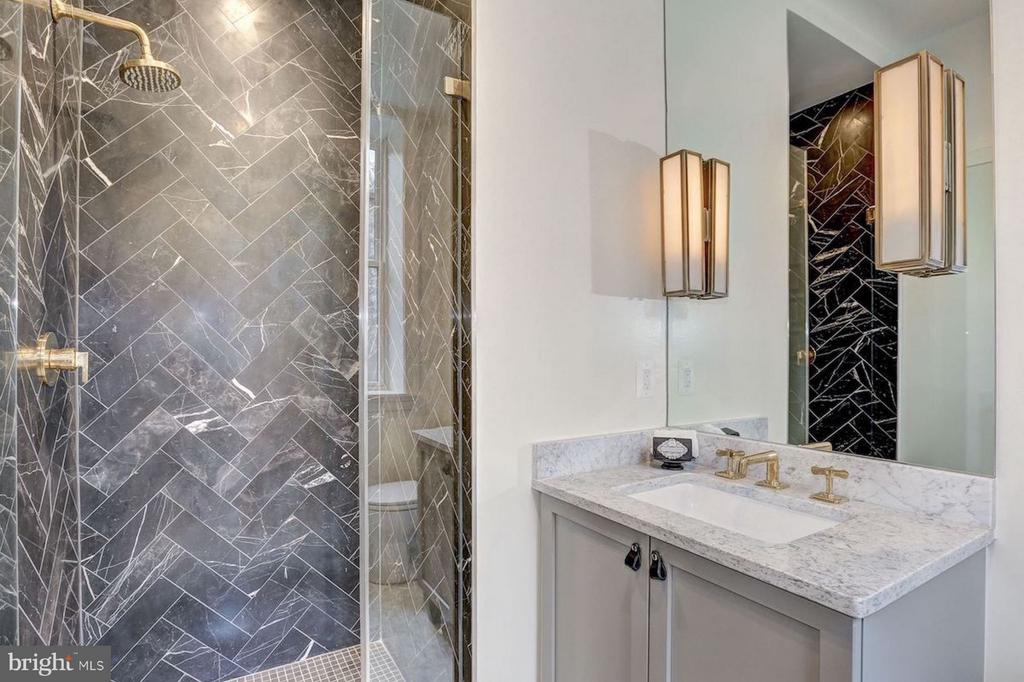Guest Bathroom with Italian Black Marble Shower - 1810 15TH ST NW #1, WASHINGTON