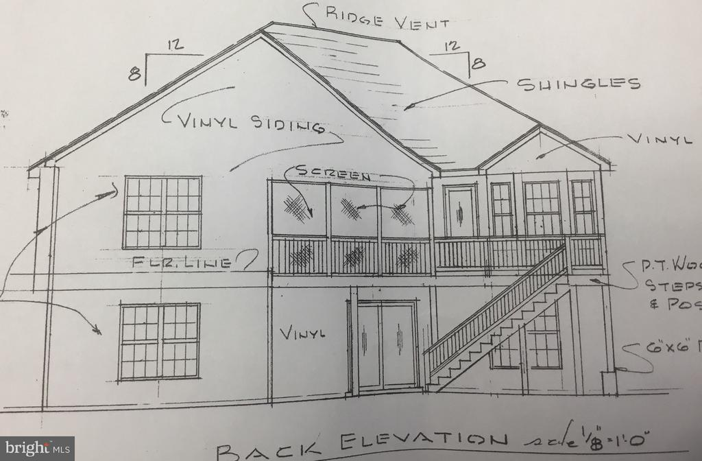 Back elevation looking at the golf course - 414 BIRDIE ROAD, LOCUST GROVE