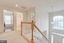 Open foyer and second level - 15004 LUTZ CT, WOODBRIDGE