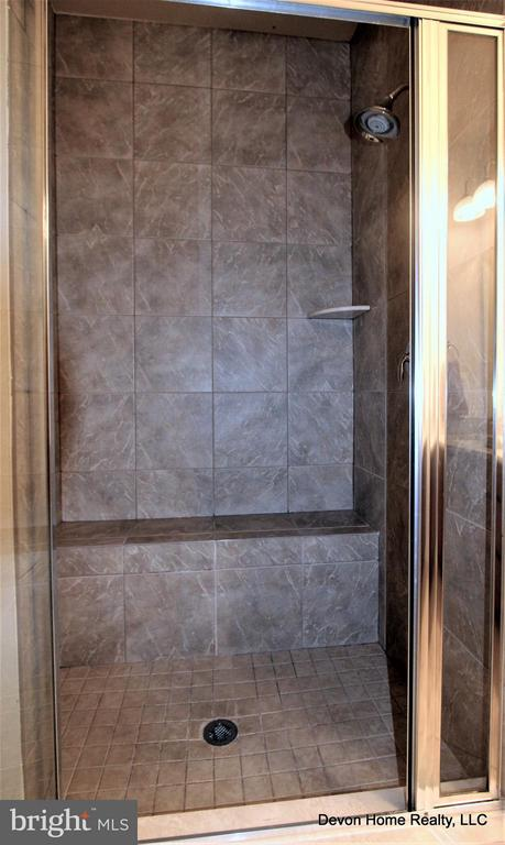 LARGE WALK IN SHOWER W/GLASS ENCLOSURE - 3007 ESKRIDGE RD, FAIRFAX