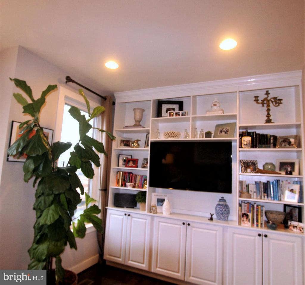 CUSTOM BUILT-INS IN LIVING ROOM - 3007 ESKRIDGE RD, FAIRFAX