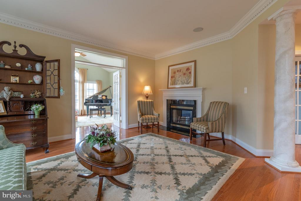 Living Room with Gas Fireplace - 3013 ROSE CREEK CT, OAKTON