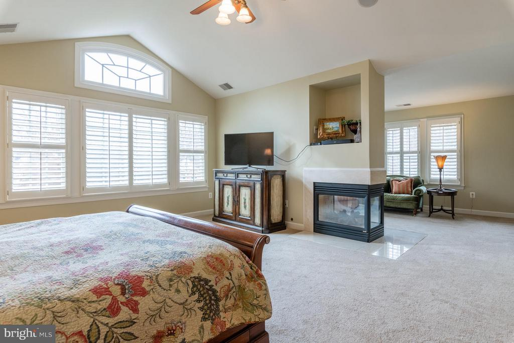 Master Bedroom with Fireplace & Sitting Area - 3013 ROSE CREEK CT, OAKTON