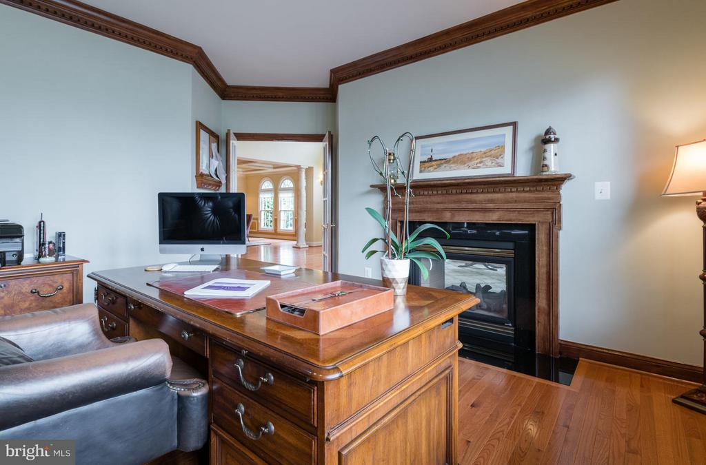 Library with Gas Fireplace - 3013 ROSE CREEK CT, OAKTON