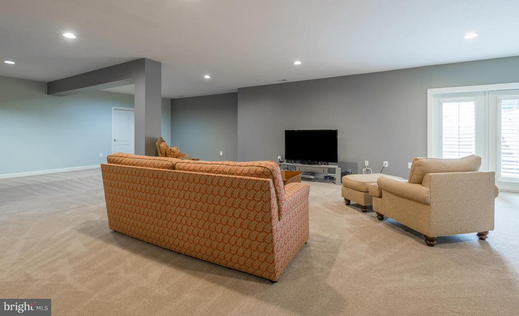 Recreation Room with Walkout - 3013 ROSE CREEK CT, OAKTON